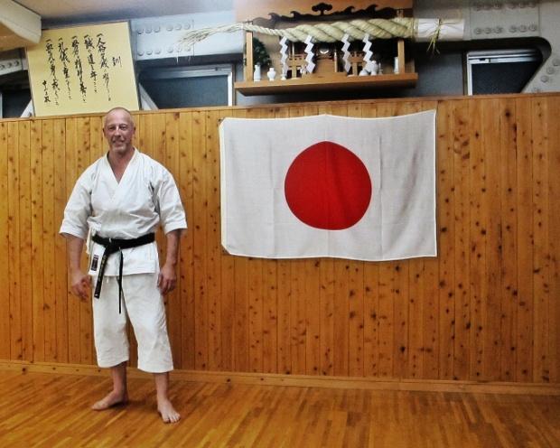 Christophe Balaresque au honbu dōjō de la JKA, juillet 2012