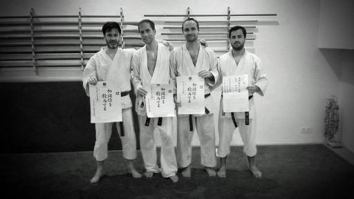 De gauche à droite ; Marc, Brieuc, Laurent et Samuel